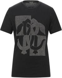 Roberto Cavalli - Studded Logo T-shirt - Lyst