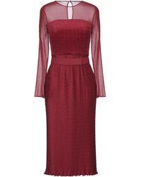 Max Mara Midi Dress - Red