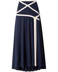 Rosie Assoulin Long Skirt - Blue