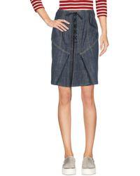 Alaïa Denim Skirt - Blue