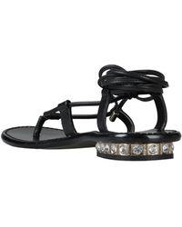 Blumarine Toe Strap Sandal - Black