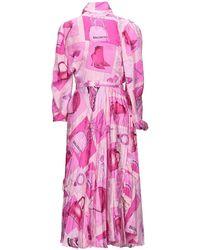 Balenciaga Vestido por la rodilla - Morado
