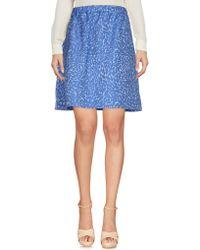 Blue Les Copains   Knee Length Skirt   Lyst