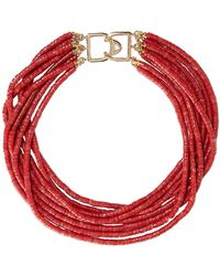 Kenneth Jay Lane Necklace - Red
