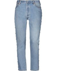 RE/DONE with LEVI'S Denim Trousers - Blue