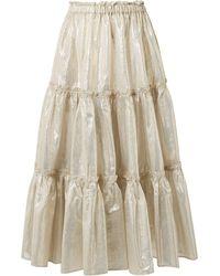Lisa Marie Fernandez Long Skirt - Grey