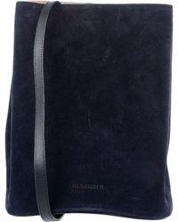 Jil Sander Navy Shoulder Bag - Blue