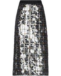 Marco De Vincenzo 3/4 Length Skirt - Metallic