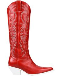 R13 Knee Boots - Red