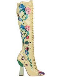 Miu Miu Knee Boots - Yellow