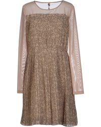 SCEE by TWINSET Short Dress - Natural