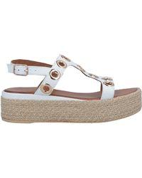 167e1b69211b Inuovo Toe Strap Sandal in White - Lyst