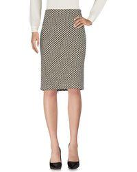 Armani Knee Length Skirt - Black