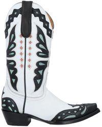 Jessie Western Ankle Boots - White