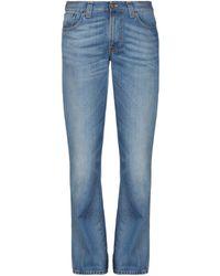 Nudie Jeans Pantalon en jean - Bleu
