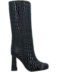 Marco De Vincenzo Knee Boots - Black