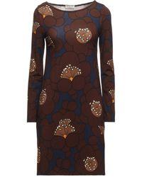 Siyu Short Dress - Brown