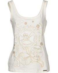 John Galliano - Tank Top - Lyst