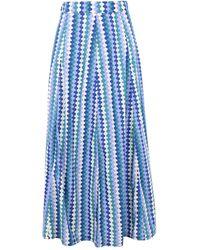 Le Sirenuse Falda larga - Azul