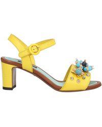 Dolce & Gabbana Sandale - Gelb
