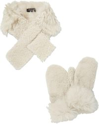 Yves Salomon Set accessoires - Blanc
