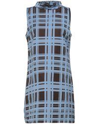 Niu Short Dress - Blue