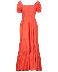 Tory Burch Langes Kleid - Orange