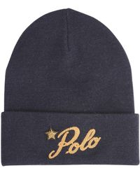 185978c96c2 Polo Ralph Lauren Rope Cable-knit Hat in Natural - Lyst