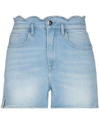 FRAME Short en jean - Bleu