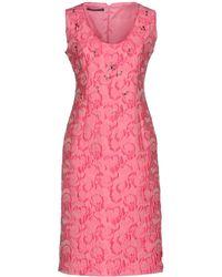 Botondi Milano Knee-length Dress - Pink