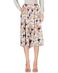 Anonyme Designers 3/4 Length Skirt - Natural