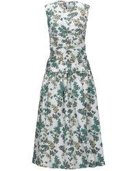Victoria, Victoria Beckham 3/4 Length Dress - White