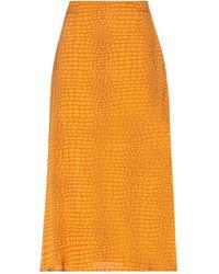 Gestuz Midi Skirt - Orange