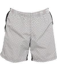 Alexander McQueen Swim Trunks - White