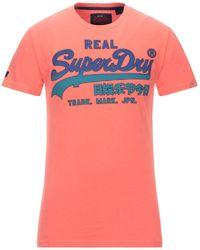 Superdry T-shirt - Pink