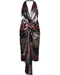 Halpern Robe midi - Multicolore