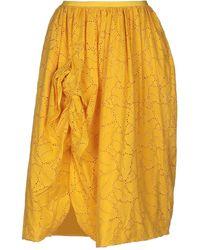 Brian Dales Midi Skirt - Yellow