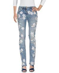 Blumarine Pantalon en jean - Bleu