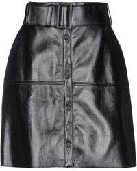 MSGM Knee Length Skirt - Black