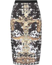 Philipp Plein 3/4 Length Skirt - White