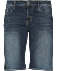 Meltin' Pot - Denim Bermudas - Lyst