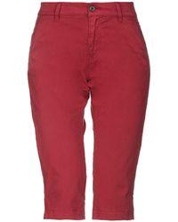 Pepe Jeans Pantalone capri - Rosso