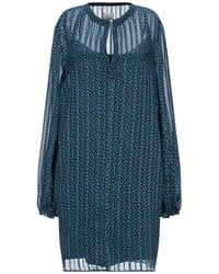..,merci Short Dress - Blue