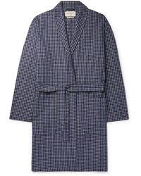 Oliver Spencer Dressing Gown - Blue