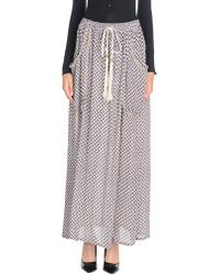 Yvonne S Long Skirt - Gray