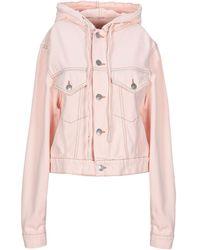 Ganni Denim Outerwear - Pink
