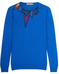 Christopher Kane - Embroidered Jersey Sweater - Lyst