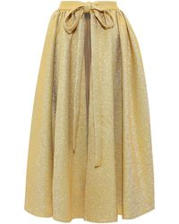 Emilia Wickstead Long Skirt - Metallic
