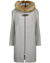 Manteau maje gris