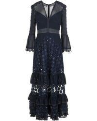 Three Floor Vestido largo - Azul